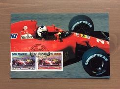 Cartolina Ferrari La Stagione 1991 Con Annullo Maranello Rosso Rep. San Marino 1-12-90 - Grand Prix / F1