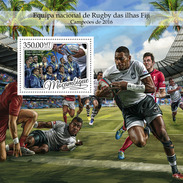MOZAMBIQUE 2016 - Fiji Rugby, S/S. Official Issue - Rugby