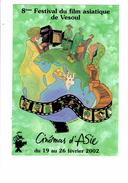 Cpm - VESOUL - 8 ème Festival Du Film Asiatique - 2002 - Cinéma D'Asie - Homme Caméra Valise Vélo - Posters On Cards