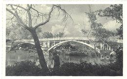 Cpa Carte-photo Cochinchine - Saïgon - Pont Sur L'Arroyo De L'Avalanche - Viêt-Nam