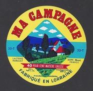 Etiquette De Fromage  -  Ma Campagne  -  Laiterie Hurault  à  Dieppe Sous Douaumont  (55 T) - Quesos