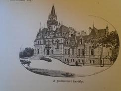 15OM.228   Slovakia  Gidrafa -Pudmericz - Budmerice - Pudmeritz - Hrad -Kastély  1898 Print - Estampes & Gravures