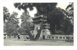 Cpa Carte-photo Cochinchine - Entrée Jardin Botanique - Viêt-Nam
