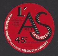Etiquette De Fromage Petit Camembert  -  L'As  -  Laiterie Hurault  à  Dieppe Sous Douaumont  (55) - Quesos
