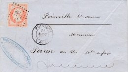 FRANCE   :  Empire  16 Sur LaC Du 11 08 1854   PC 2479   POISSONS  (50) - 1849-1876: Période Classique