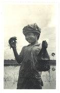 Cpa Carte-photo Cochinchine - La Pêche Aux Crabes - Viêt-Nam