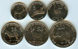 Eritrea - 1997 - 6 Coins - KM 43-8 - Unc - Eritrea