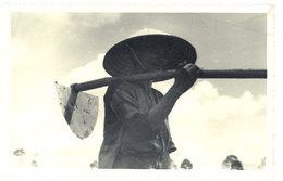 Cpa Carte-photo Cochinchine / Vietnam - Kha Qué ( Rizière ) - Viêt-Nam