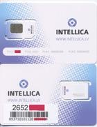 LATVIA  INTELLICA GSM SIM Card Microchip (standard / Micro) Mint Issue Of 2012 Year  RARE - Latvia