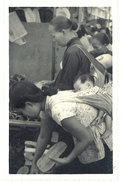 Cpa Carte-photo Cochinchine / Vietnam - Aux Marchés - Viêt-Nam