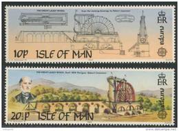 Isle Of Man 1983 Mi 240 /1 YT231 /2 ** Robert Casement, Engineering + Great Laxey Wheel (1854) / Wasserrad Laxey-Erzmine