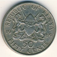 Kenya - 1969 - 50 Cents - KM 13 - VF - Kenia