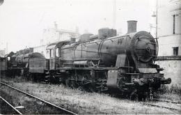 LOCOMOTIVES Dépot Bordeaux Photo Vilain, Collection Jean Bornet  .(photo Format Carte Ancienne) - Eisenbahnen