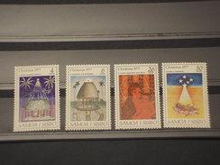 SAMOA - 1977 QUADRI NATALE  4 VALORI - NUOVI(++) - Samoa