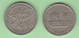 Cuba 25 Centavos 1989 Small 25 Visitor Coins - Cuba