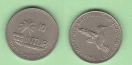 Cuba 10 Centavos 1989 Visitor Coins - Cuba