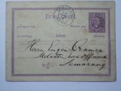 NETHERLANDS INDIES 1884 POSTCARD SEMARANG POSTMARKS - Indie Olandesi