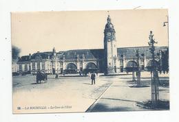 Cp , 17 , LA ROCHELLE ,  La GARE De L'état , Attelage , Vierge , Chemin De Fer , Ed : Artaud - Gares - Sans Trains