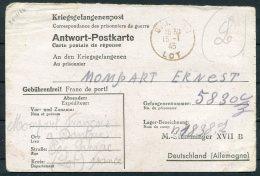 1945 France POW, Prisonniers De Guerre, Kriegsgefangenenpost Lot - Stalag 18 B Germany - Storia Postale