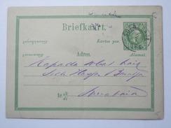 NETHERLANDS INDIES 1886 POSTCARD SOERABAJA / SURABAYA POSTMARK - Indie Olandesi
