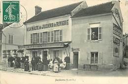 A-17-330 : JUZIERS  A LA HALTE DE JUZIERS LA RIVIERE  CAFE RESTAURANT LELIEVRE. - Frankrijk