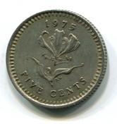 1975 Rhodesia 5 Cent Coin - Rhodesia