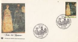 54025- FRECOS, ART, COVER FDC, 1981, UNITED NATIONS VIENNA - FDC