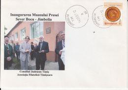 54063- JIMBOLIA- SEVER BOCU PRESS MUSEUM, SPECIAL COVER, 2007, ROMANIA - 1948-.... Republics