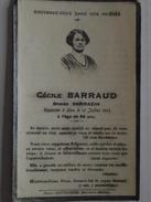 AMPLEPUIS (Rhône) - Avis De Décès - Cécile BARRAUD épouse SARRAZIN - 12 Juillet 1933 - 36 Ans - Format CDV - A Voir ! - Obituary Notices