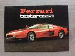Cartolina Ferrari Testarossa Con Sul Retro Annullo Trofeo Enzo Ferrari Int. Giov. Calcio Maranello 1-4-1991 - Grand Prix / F1