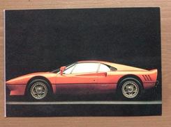 Cartolina Ferrari GTO Con Sul Retro Annullo Trofeo Enzo Ferrari Int. Giov. Calcio Maranello 1-4-1991 - Grand Prix / F1