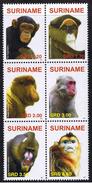 Surinam / Suriname 2007 Aap Apen Monkey Ape Affen Singe MNH - Apen