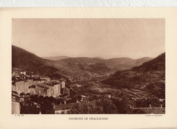 VAR, Environs De DRAGUIGNAN, Planche Densité = 200g, Format 20 X 29 Cm, (Leyronnas) - Documents Historiques