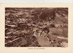 VAUCLUSE, PAYSAGE AU SUD D'ORANGE, Planche Densité = 200g, Format 20 X 29 Cm, (Michaud) - Historical Documents