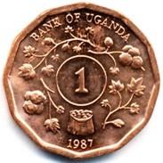 Uganda - 1987 - 1 Shilling - KM 27 - Unc - Uganda
