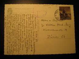 Cat. 324 On Malbun Alpen Hotel Post Card TRIESENBERG 1959 Liechtenstein To Zurich Switzerland - Liechtenstein