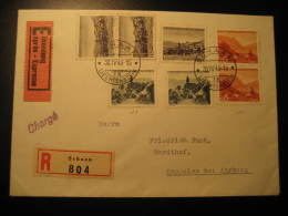 Cat. 199 200 203 On Express Registered Cover SCHAAN 1946 Liechtenstein To Kappelen Bei Aarberg Switzerland - Liechtenstein