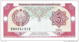 Uzbekistan - Pick 74 - 3 Sum 1994 - Unc - Uzbekistán