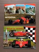 Coppia Cartoline Ferrari Con Vedute Di Modena Annullo Sul Retro Trofeo Enzo Ferrari Int. Giov. Calcio Maranello 1-4-1991 - Grand Prix / F1