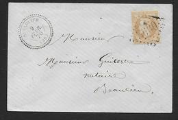 Indre Et Loire -  G.C.  3600  Et Cachet Type 22  ST FLOVIER - Postmark Collection (Covers)