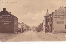 Rance  Grand'rue Animée Avec Publicitée  Circulé En 1931 - Thuin