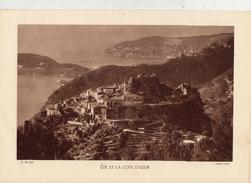ALPES Mtmes, EZE ET LA CÔTE D'AZUR, Planche Densité = 200g, Format: 20 X 29 Cm, (Yvon) - Documents Historiques