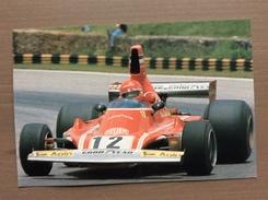 Cartolina Niki Lauda 1974 Con Annullo Sul Retro Trofeo Enzo Ferrari Int. Giov. Calcio Maranello 1-4-1991 - Grand Prix / F1