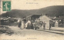 ALLARMONT. UN TRAIN EN GARE - France