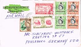 20929. Carta Aerea KINGSTON (jamaica) 1962. Franqueo Mixto Federacion  E Independencia - Jamaica (1962-...)