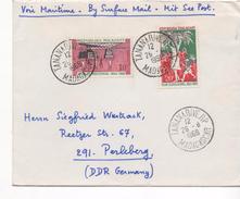 2968   Carta   Correo Marítimo,  Tananarive  1968 Madagascar - Madagascar (1960-...)