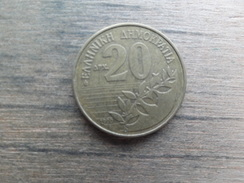 Grece  20  Drachmes  1990  Km 154 - Grèce