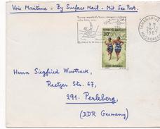 2968   Carta   Correo Marítimo,  Tananarive  1967  Madagascar, Flamme Turistico - Madagascar (1960-...)