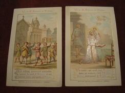 Lot De 2 Chromos Vie De Saint Antoine De Padoue - Devotieprenten