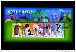 AUSTRALIA - 2004  CATS AND DOGS  MS   FINE USED - Blocchi & Foglietti